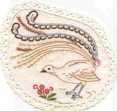 Lyrebird doiley
