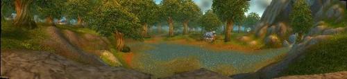Panoramabild des Waldes von Elwynn