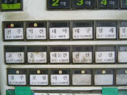 The ticket machine