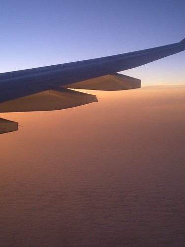 From plane