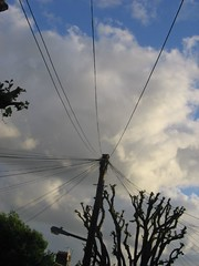 Clouds and wires in Walthamstow