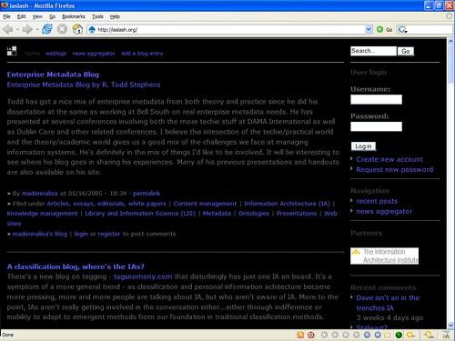 Screenshot of iaslash.org