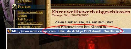 Fun auf wow-europe.com