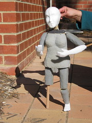 Bunraku-style puppets