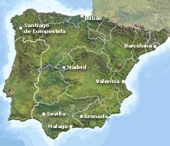 Mapa España Secretplaces