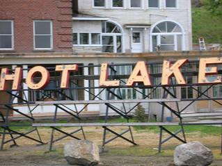 Hot Lake sign