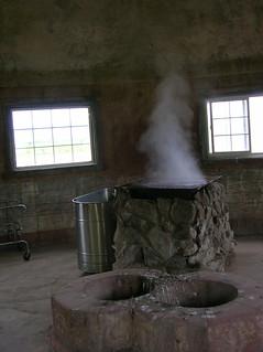 inside the steam house