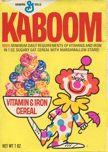 Kaboom Cereal Box