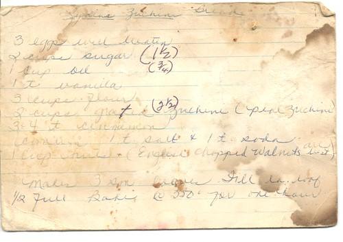 recipe - lydias zucchini bread | by cafemama