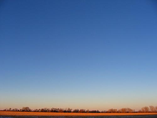 nebraska sunset sky frozenlake cornfield platteriver