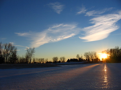 nebraska sunset sky frozenlake cornfield
