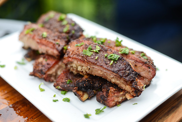Szechuan-spiced Smoked and Fried Ribs