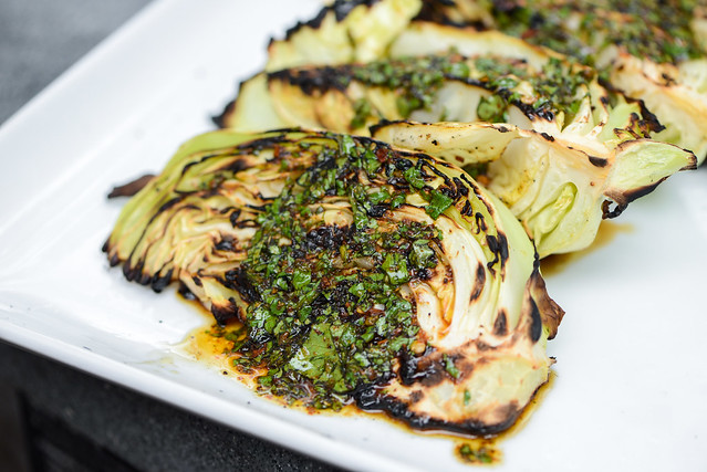 Grilled Cabbage with Chili-Lime Dressing