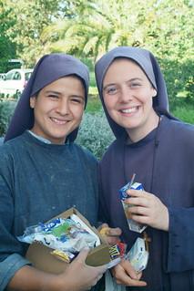 Hermana Clare y hermana Nathaly