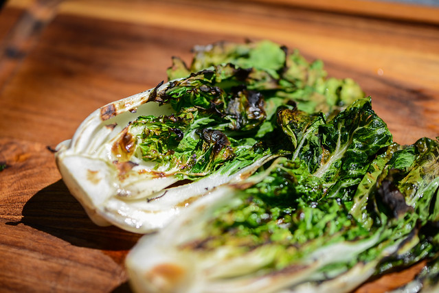Grilled Bok Choy with Honey-soy Dressing