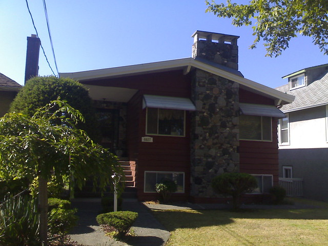 4627 Gothard St. With Its Fieldstone Chimney
