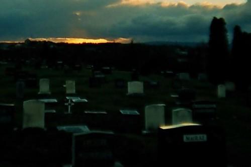 light sunset sky freeassociation graveyard clouds evening lomo lca lomography shine availablelight cemetary graves glimmer nuanc gravestones glimmerglowshimmershine lastlight macrae thedead