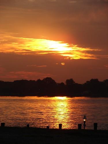 sun reflection saint st sunrise river clair