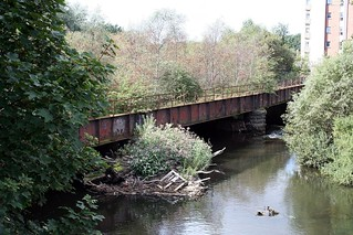 railway bridge over Kelvin at Partick Central | by bob the lomond