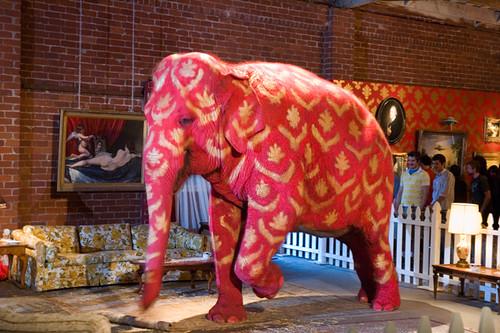 Banksy's Pink Elephant