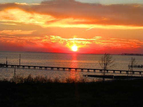 sunset water pier oceansprings mississippicoast ptauxchene