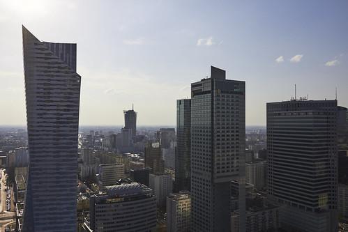 warszawa warsaw view city sky hdr pkin widok panorama wiosna słońce sun sunny