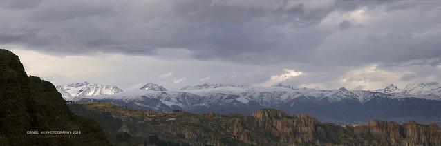 Panorámica de la Cordillera Murillo, La Paz