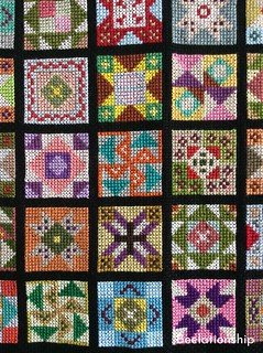 Vibrant Patchwork Tapestry 002 | by Beelationship Embroidery Studio