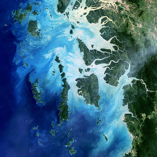The southernmost reaches of Burma (Myanmar), the Mergui Archipelago along the border with Thailand. Original from NASA . Digitally enhanced by rawpixel.