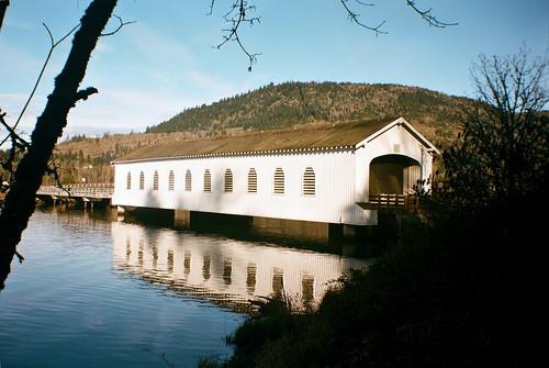 bridge oregon river water landscape