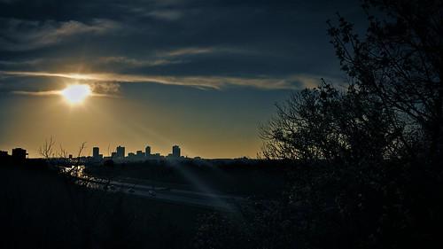 sunset city sun prairie texas clouds evening sky cityscape horizon leicam240 summicron35mmf2asph