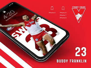 #23 Buddy Franklin (Sydney Swans) iPhone Wallpapers | by Rob Masefield (masey.co)