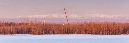 frac wireline oil gas petroleum sky outdoor north alberta grande prairie canada snow sunrise