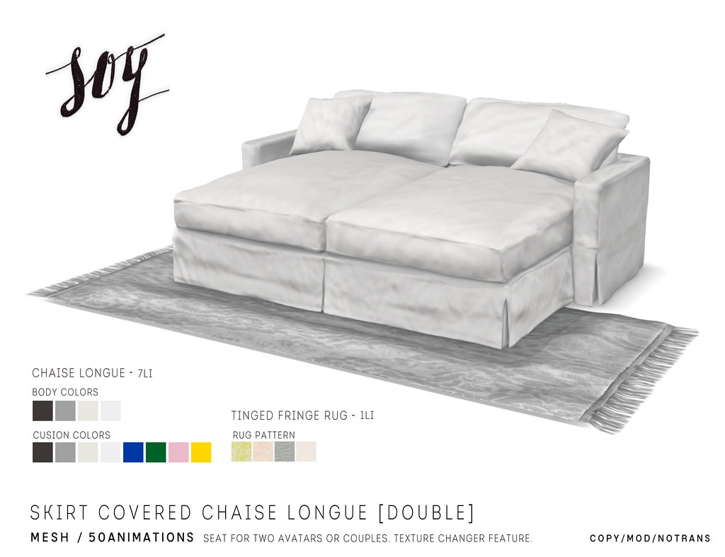 Strange Soy Skirt Covered Chaise Longue Double Hello Available Evergreenethics Interior Chair Design Evergreenethicsorg