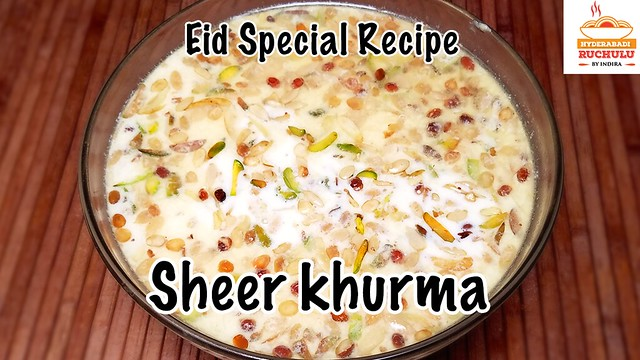 Sheer Khurma | Eid Special Recipe | Eid Famous Dessert Recipe by Hyderabadi Ruchulu