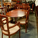 Mahogany drop leaf table with 6 chairs E250 the set