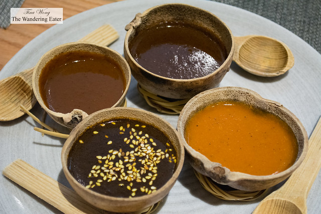 Various mole sauces to try