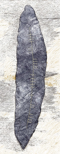 Ogham writing, the earliest form of Celtic writing found on the Dingle Peninsula in Ireland, run through the photo app Sketch Guru