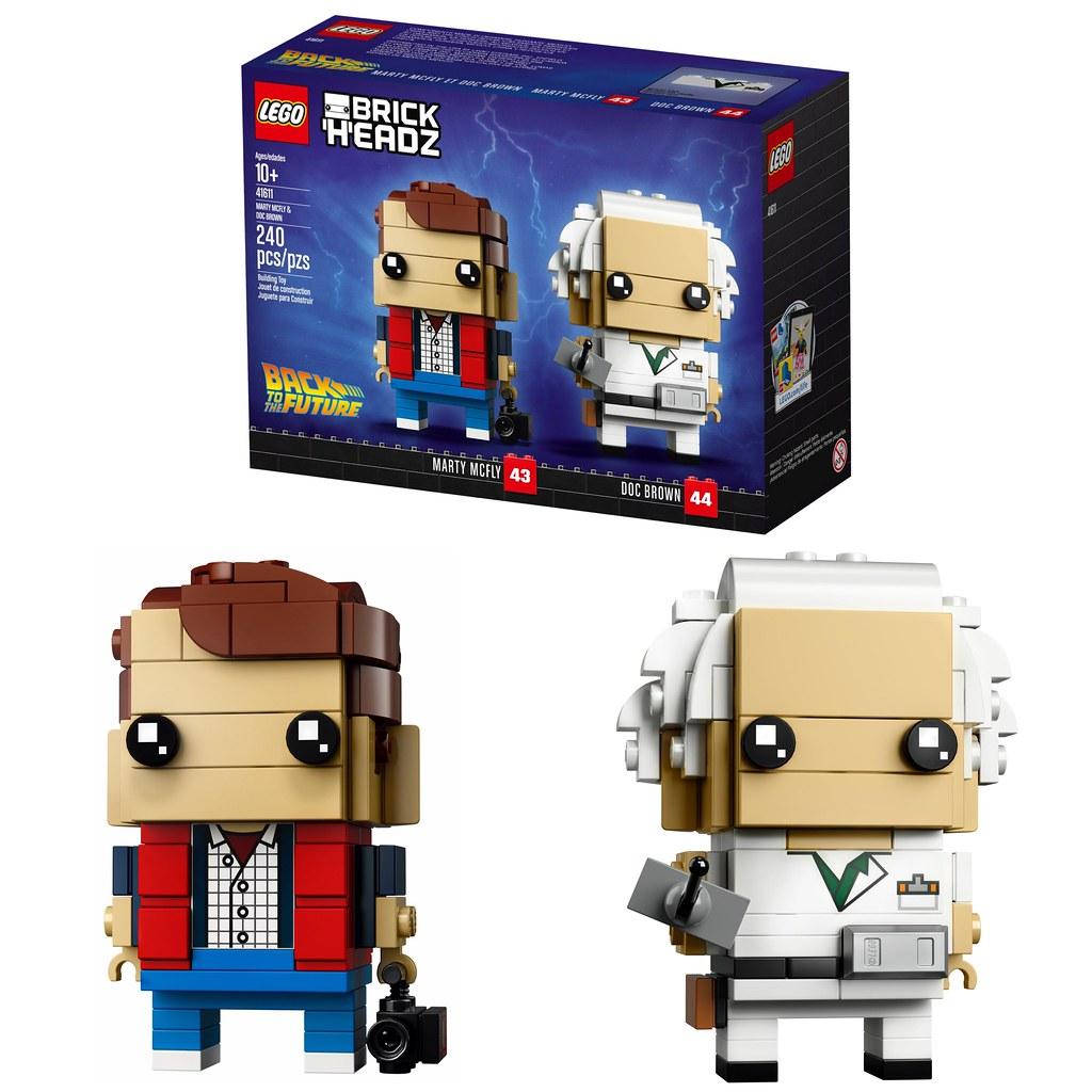 LEGO 41611 Brickheadz Marty McFly /& Doc Brown Back to the Future 43 44