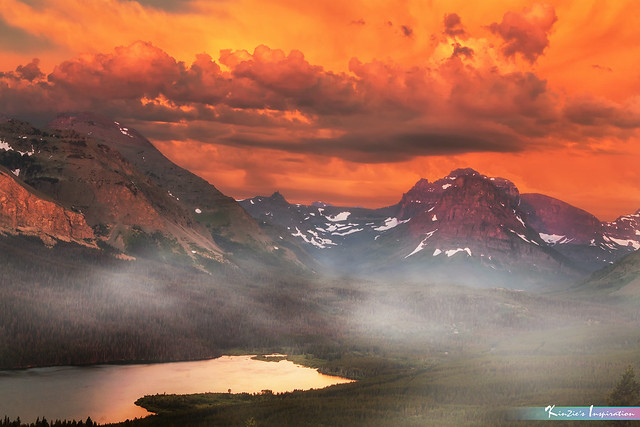 Misty Morning at East Glacier National Park *A Beautiful Nature*