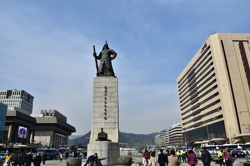 Memorial to Admiral Yi Sun-sin, 1545-98, Seoul (1) | by Prof. Mortel
