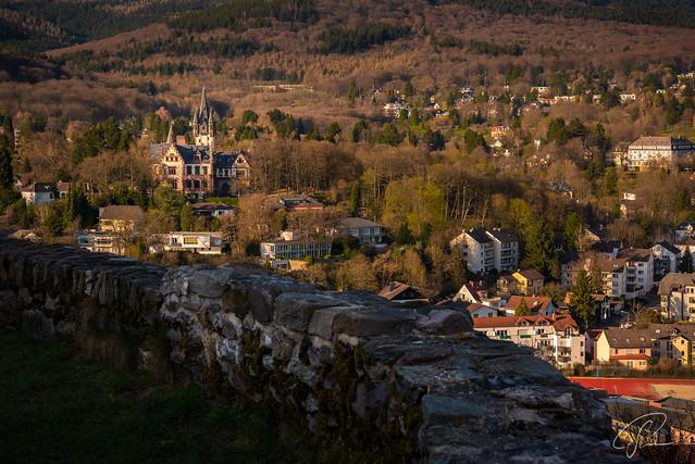 Blick von der Burg nach Königstein