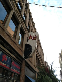 Cleveland, Ohio - The Corner Alley Sign   by Darrell Harden