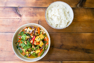 Vietnamese veggie soup with rice | by marcoverch