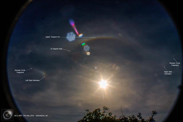 22 Degree Halo & Partial Parhelic Circle 17/05/18