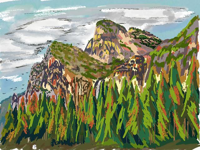 My Travels - Yosemite National Park Cathedral Rocks