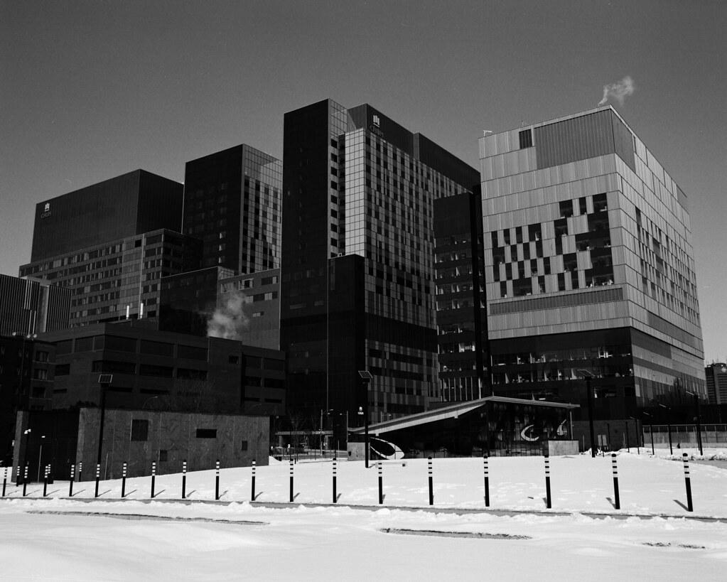 CHUM hospital, Montreal | Bronica GS-1, PanF plus, Noritsu s