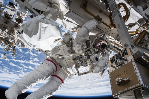 Spacewalker Drew Feustel | by NASA Johnson