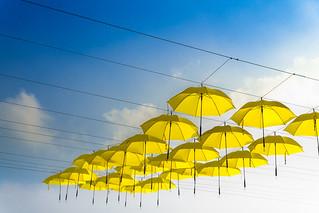 The Yellow Umbrellas | by Andri Yudatama