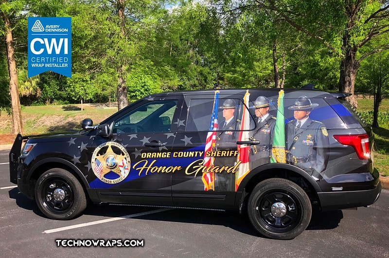 Police vehicle wrap by TechnoSigns in Orlando